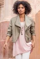 Soft Surroundings Fiona Faux Leather Jacket
