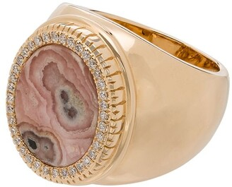 O Thongthai 14K yellow gold diamond ring