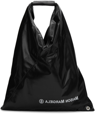 MM6 MAISON MARGIELA Black Small Shiny Tote