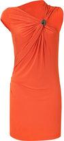 Plein Sud Tangerine Draped Dress