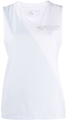 Helmut Lang sleeveless logo T-shirt