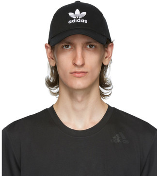 adidas Black and White Trefoil Cap