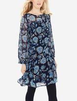 The Limited Printed Sheer Yoke Dress