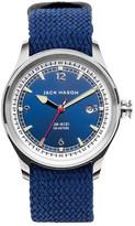 Jack Mason Brand Men's Brand Nautical Woven Strap 42mm Watch
