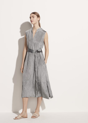Vince Textured Sleeveless Popover Dress