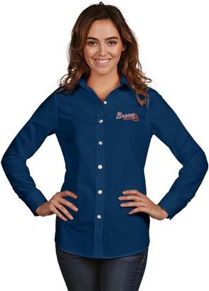 Antigua Women's Atlanta Braves Dynasty Button-Down Shirt