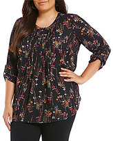 Gibson & Latimer Plus Floral Blouse