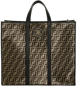 Fendi FF Logo Jacquard Motif Tote Bag