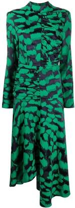 MATÉRIEL Geometric Print Asymmetric Dress