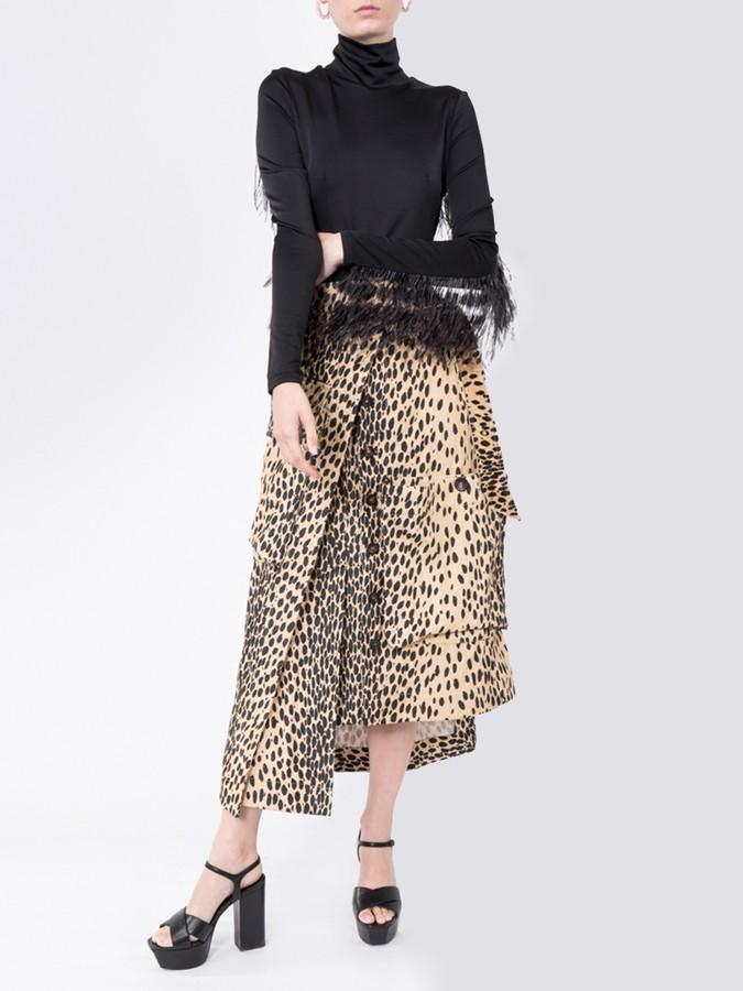 Jacquemus La Jupe Thika Leopard Print Skirt