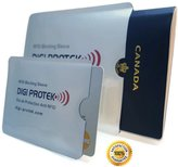 Digi-Protek RFID Blocking Passport Sleeve + RFID Blocking Credit Card Sleeve * Anti Theft RFID Cover Protection Holder * RFID Shield Case * Waterproof Protector Pouch Great for Wallet * Your Best RFID (NF) Travel Safety Pack from Digi Protek SP1-3