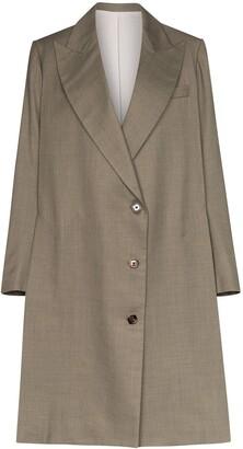 Eftychia oversized long blazer coat