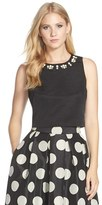 Eliza J Women's Embellished Faille Crop Top