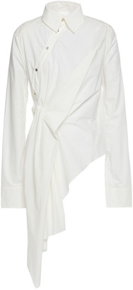 Marques Almeida Asymmetric Draped Cotton-poplin Shirt
