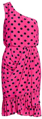 Derek Lam 10 Crosby Taula Polka Dot One-Shoulder Dress