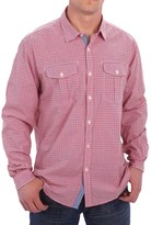 Barbour International Davison Gingham Print Shirt - Cotton, Button Front, Long Sleeve (For Men)