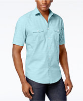 Alfani Short Sleeve Warren Textured Shirt