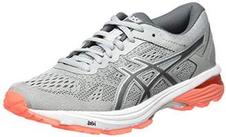 Asics Women's GT-1000 6 Running Shoes, Mid Grey/Carbon/Flash Coral, 36 EU ()