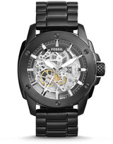 Fossil Modern Machine Automatic Black Stainless Steel Watch