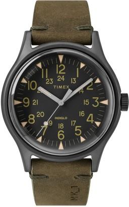 Timex Men's MK1 Leather Watch, 40mm