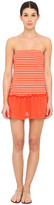 Marc by Marc Jacobs Tara Stripe Pull On Bandeau Dress Cover-Up