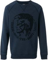 Diesel logo print sweatshirt - men - Cotton - XL