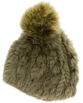 Glamour Puss Glamourpuss Rabbit Fur Beanie w/ Tags