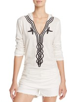 Soft Joie Koharu Soutache Detail Hooded Top