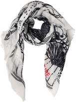 Zadig & Voltaire Zadig&voltaire Tattoo Printed Scarf