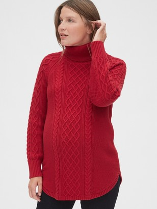 Gap Maternity Cable-Knit Turtleneck Sweater