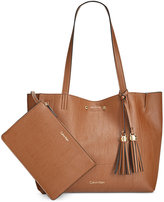 Calvin Klein Reversible Pebble Tote with Pouch