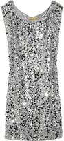 Casey paillette-embellished silk dress