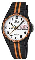 Lotus Marc Marquez Kids Collection 2016 Children's Quartz Watch with White Dial Analogue Display and Black Rubber Strap 18261/3
