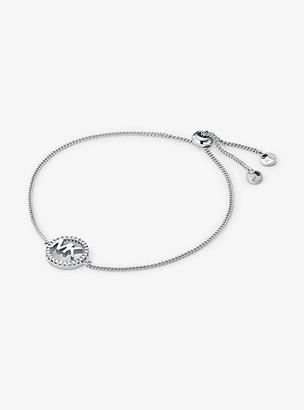 Michael Kors Precious Metal-Plated Sterling Silver Logo Slider Bracelet - Gold