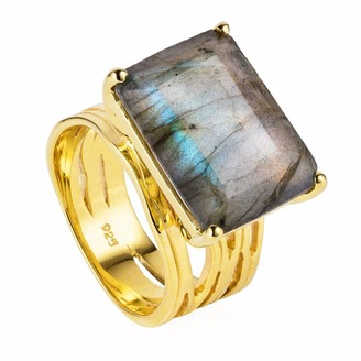 Neola Pietra Gold Cocktail Ring With Labradorite