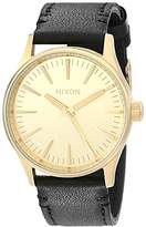 Nixon Men's A377513 Sentry 38 Leather Watch