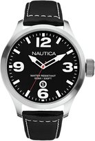 Nautica Men's A12561G Dial Leather Strap Watch