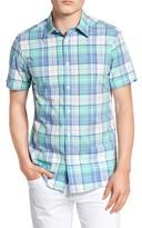 Ben Sherman Men's Mod Fit Madras Plaid Sport Shirt