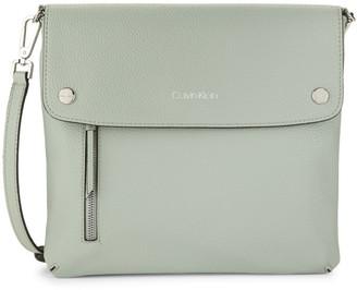 Calvin Klein Rachel Faux Leather Shoulder Bag