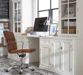 """Pottery Barn Small Office Set (includes 1 desk, 2 24"""" bases with doors, 2 24"""" hutches with glass doors)"""