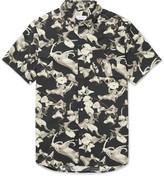 Saturdays NYC Esquina Slim-Fit Button-Down Collar Printed Cotton Shirt