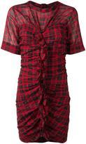 Etoile Isabel Marant checked dress - women - Cotton/Linen/Flax - 38