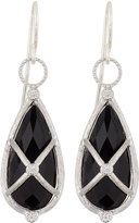 Jude Frances 18k Teardrop Onyx & Diamond Earring Charms