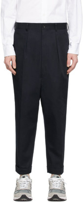 Comme des Garcons Homme Navy Cotton Chino Trousers
