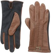 Adrienne Vittadini Women's Leather and Faux Suede Touchscreen Gloves