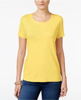 Karen Scott Petite Cotton T-Shirt, Only at Macy's