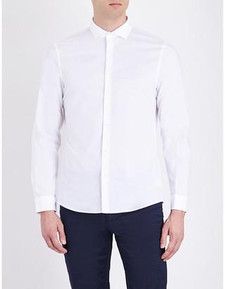 Michael Kors Slim-fit stretch-cotton shirt