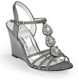 Adrianna Papell Kristen Embellished Wedge Sandals