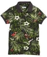 Mayoral Short-Sleeve Jungle-Print Polo, Size 4-7