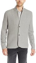 Vince Men's Ribbed Cardigan Sweater